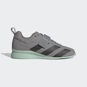 adidas - Adipower 2 Gewichtheberschuh Grey Three / Core Black / Green Tint EG1215