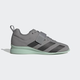 adidas - Adipower Weightlifting 2 Shoes Grey Three / Core Black / Green Tint EG1215