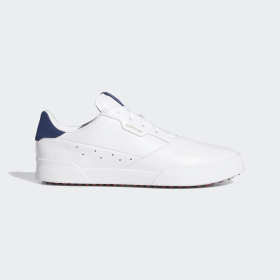 adidas - Scarpe da golf adicross Retro Cloud White / Silver Metallic / Tech Indigo EE9164