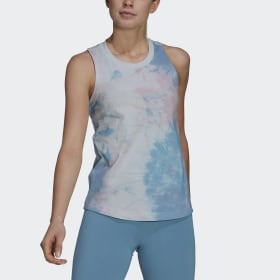 Tie-Dyed Effect Tank Top