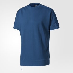 adidas - adidas Z.N.E. Crewneck T-Shirt Blue Night CD8262
