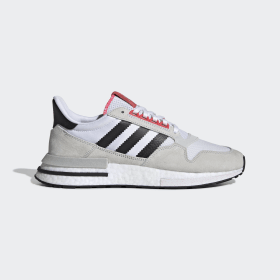 adidas - ZX 500 RM Shoes Beige / Core Black / Shock Red G27577