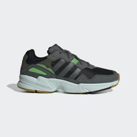 adidas - Yung-96 Shoes Grey / Legend Ivy / Raw Ochre F35018