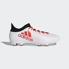 adidas - Bota de fútbol X 17.3 césped natural seco Cloud White / Real Coral / Core Black CP9192