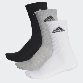 adidas - 3-Stripes Performance Crew Socks Multicolor / Medium Grey Heather / White AA2299