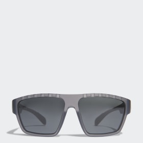 SP0008 Shiny Black Injected Sport Sunglasses