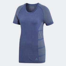 adidas - Primeknit Cru T-Shirt Noble Indigo / Raw Steel CF5997