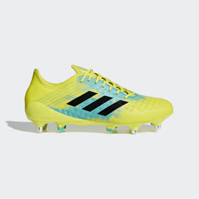 adidas - Predator Malice Control Soft Ground Boots Shock Yellow / Core Black / Hi-Res Aqua AC7724