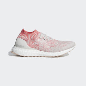 adidas - Ultraboost Uncaged Shoes Beige / Raw White / Shock Red B75863