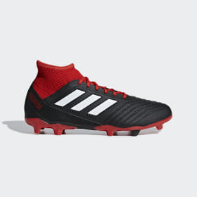 adidas - Predator 18.3 Firm Ground Boots Core Black / Cloud White / Red DB2001
