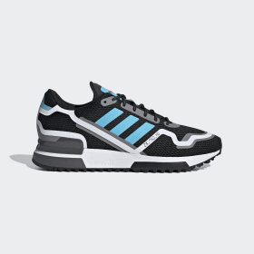 adidas - ZX 750 HD Shoes Core Black / Bright Cyan / Grey Three FV2874