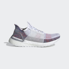 adidas - Ultraboost 19 Shoes Cloud White / Crystal White / Blue B75877