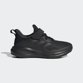 adidas - FortaRun Elastic Lace Top Strap Running Shoes Core Black / Core Black / Core Black GY7601