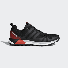 adidas - TERREX Agravic Shoes Core Black / Carbon / Hi-Res Red CM7615