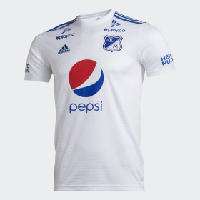 eceb526fcf384 Camiseta de fútbol Millonarios FC Visitante 2018 ...