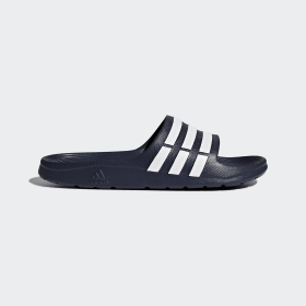 adidas - Duramo Slides Dark Blue / White / Dark Blue G15892