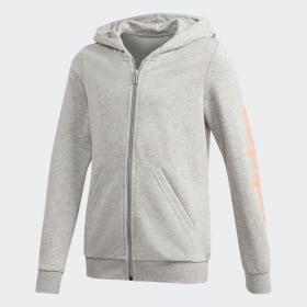 adidas - Linear Hoodie Medium Grey Heather FM7026