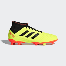 adidas - Bota de fútbol Predator 18.3 césped natural seco Solar Yellow / Core Black / Solar Red DB2319