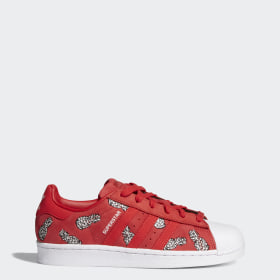 Red Superstar Adidas Us