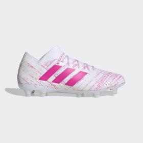 adidas - Nemeziz 18.1 Firm Ground Boots Cloud White / Shock Pink / Shock Pink BB9427
