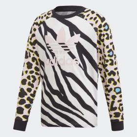 Adidas originals women's chile 62 leopard top tracksuit jacket size 10