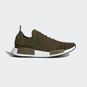 adidas - NMD_R1 STLT Primeknit Shoes Trace Olive / Core Black / Solar Slime CQ2389