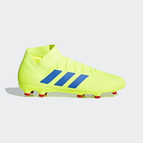 adidas - Nemeziz 18.3 Firm Ground Boots Solar Yellow / Football Blue / Active Red BB9438