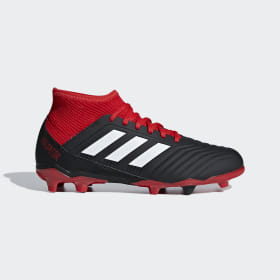 adidas - Bota de fútbol Predator 18.3 césped natural seco Core Black / Cloud White / Red DB2318