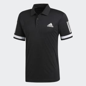 adidas - 3-Stripes Club Polo Shirt Black / White CD7469