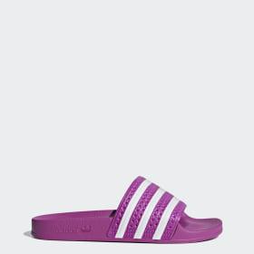 Dames - roze - adilette - Slippers & Teenslippers | adidas ...