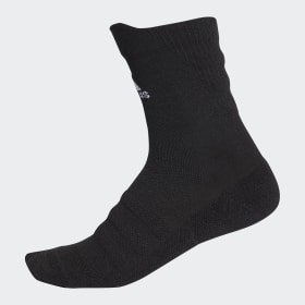 adidas - Alphaskin Lightweight Cushioning Crew Socks Black / White CV7428