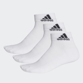 adidas - 3-Stripes Performance Ankle Socks 3 Pairs White / Black / Black AA2285