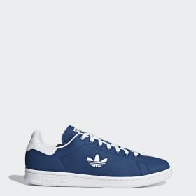 zapatillas hombre adidas stan smith blancas y azules