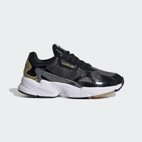 adidas - Zapatilla Falcon Core Black / Cloud White / Gold Metallic FV3408