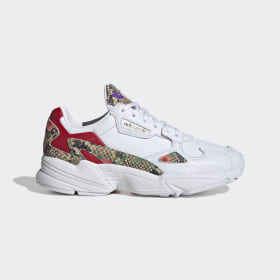 adidas - Falcon Shoes Cloud White / Scarlet / Gold Metallic FV3083