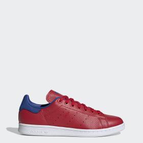 Adidas Originals Stan Smith Sko Hvid Rød outlet Adidas