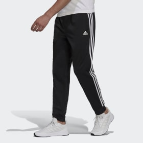 Essentials Warm-Up Tapered 3-Stripes Track Pants