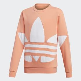 adidas - Big Trefoil Crew Sweatshirt Chalk Coral FS1854