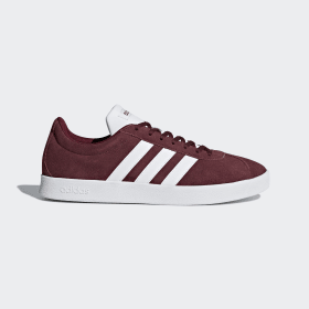 adidas - VL Court 2.0 Shoes Collegiate Burgundy / Cloud White / Core Black DA9855
