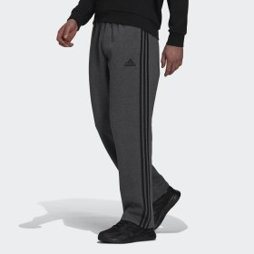Essentials Fleece Open Hem 3-Stripes Pants