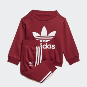 burgundy adidas sweatsuit