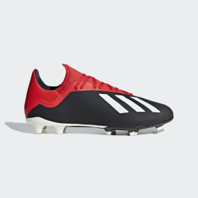 adidas - Bota de fútbol X 18.3 césped natural seco Core Black / Off White / Grey Four BB9366