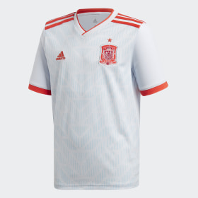 adidas - Spain Away Jersey White / Halo Blue / Bright Red BR2694