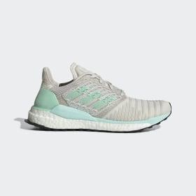 adidas - Solar Boost Schoenen Raw White / Clear Mint / Active Purple D97432