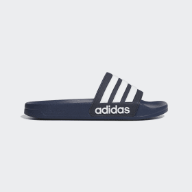 adidas - Adilette Cloudfoam Slides Collegiate Navy / Cloud White / Collegiate Navy AQ1703