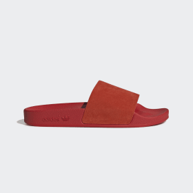 adidas - Adilette Slides Active Red / Cloud White / Core Black CM8412