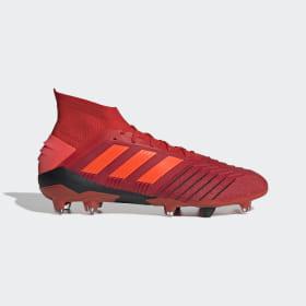 adidas - Bota de fútbol Predator 19.1 césped natural seco Active Red / Solar Red / Core Black BC0552