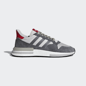 adidas - Zapatilla ZX 500 RM Grey Four / Cloud White / Scarlet B42204