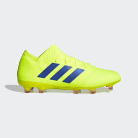 adidas - Bota de fútbol Nemeziz 18.1 césped natural seco Solar Yellow / Football Blue / Active Red BB9426
