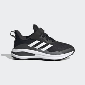 adidas - FortaRun Elastic Lace Top Strap Running Shoes Core Black / Cloud White / Grey Six H04120